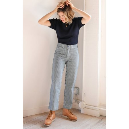 Gravel and Gold Painter Pants in Conductor Stripe