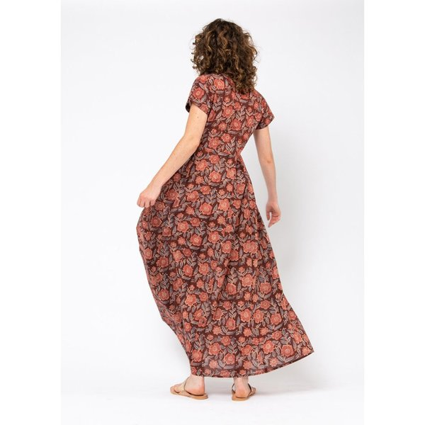 Matta Kheera Kalamkari Dress - Rose