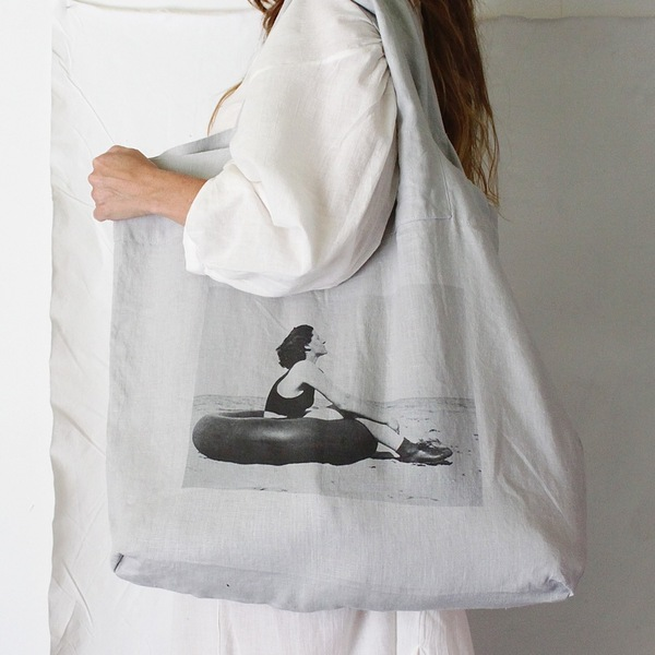 serie limitee louise linen beachfarer bag garmentory. Black Bedroom Furniture Sets. Home Design Ideas
