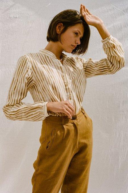 All That Remains Lou Linen Shirt - Stripe