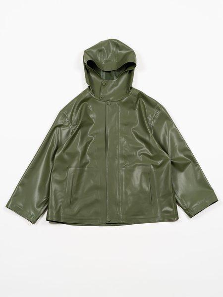 Auralee Soft Rubber Blouzon - Dark Green