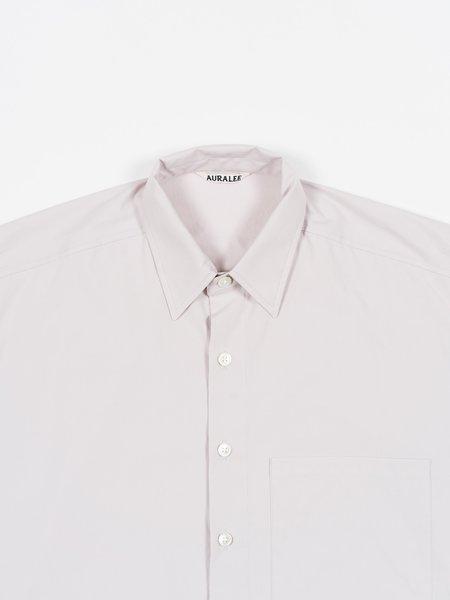 Auralee Washed Finx Twill Half Sleeved Big Shirt - Light Purple