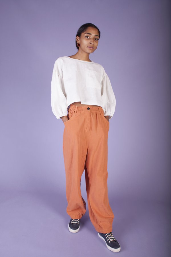 L.F. Markey Fat Boy Crepe Trousers - Burnt Orange