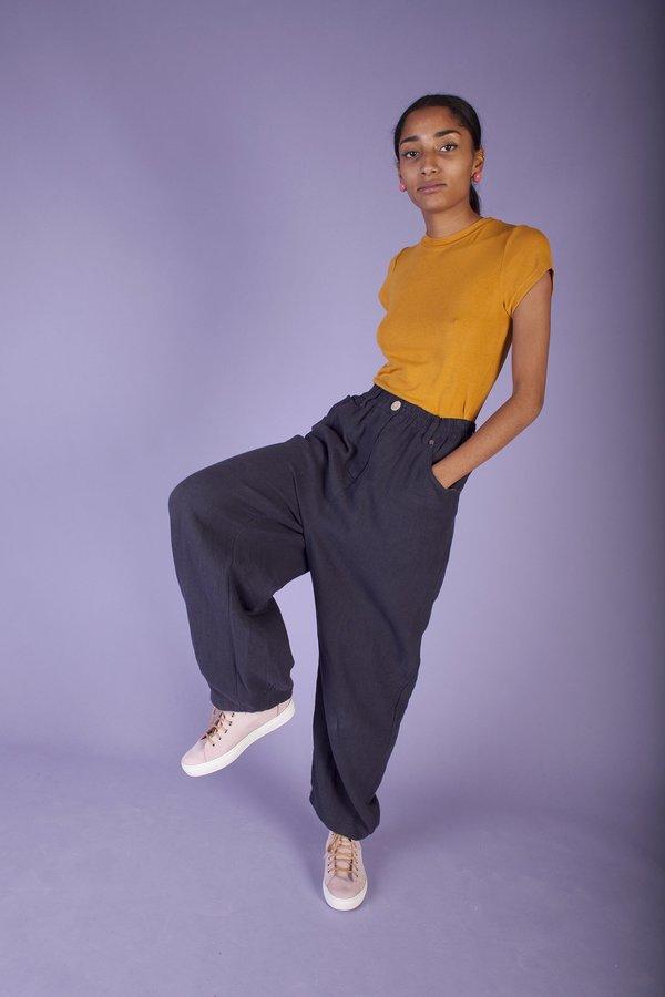L.F. Markey Fat Boys Linen Trousers - Navy