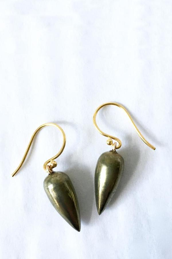 Percent Jewelry Teardrop Earring - Pyrite