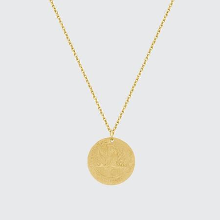 Electric Picks Monte Carlo Coin Necklace - GOLD