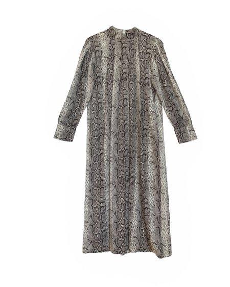 Moonpaper Cara Snake Print Dress - Black Print