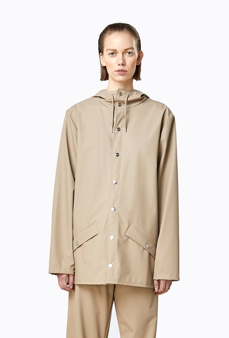 Unisex Rains Jacket - Beige