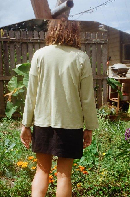 Mimi Holvast Long Sleeve Big Tee - Pistachio Green