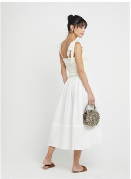 kourt Drew Dress - white