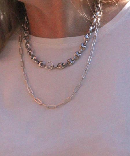 Gabriela Artigas Rectangular Link Choker - Sterling Silver