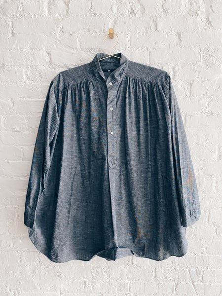 Pre-loved 45 RPM 45RPM Smocked Popover Tunic - Chambray
