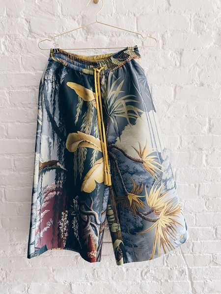 Pre-loved Adam Lippes Tropical Culottes - Light Blue