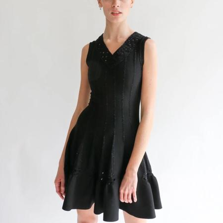 Pre-loved Alaia Fit Flare Mini Dress - Black