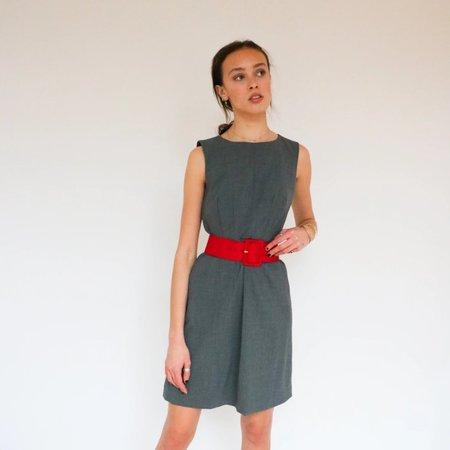 Alexander McQueen Belted Midi Dress