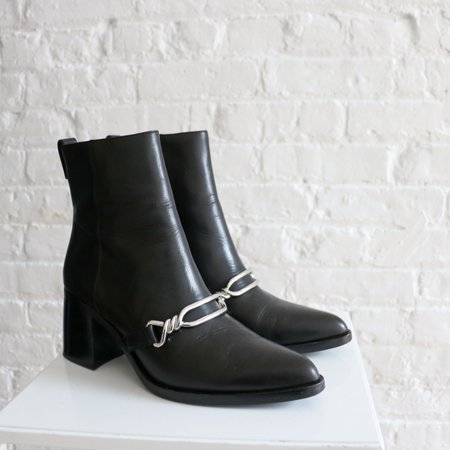 Pre-loved All Saints Chain Ankle Boot - Black