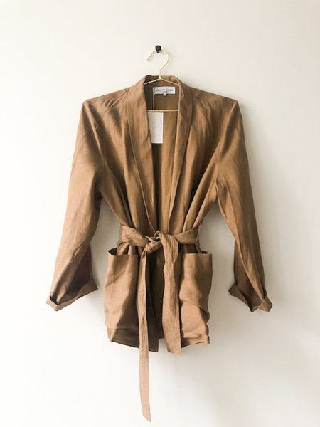 Apiece Apart Belted Jacket - Brown