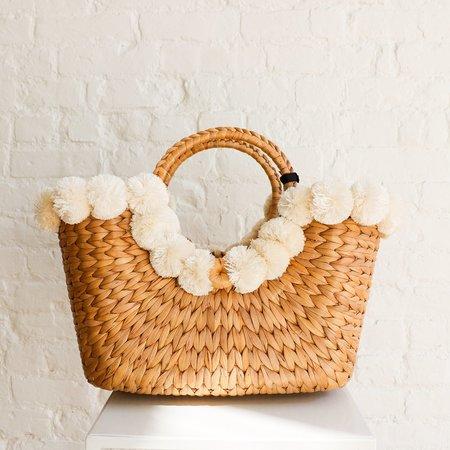 Pre-loved Artisans of IQ Nolita Romani Pearl Bag - Natural