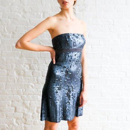 Pre-loved Badgley Mischka Sequin Mini Dress - Navy