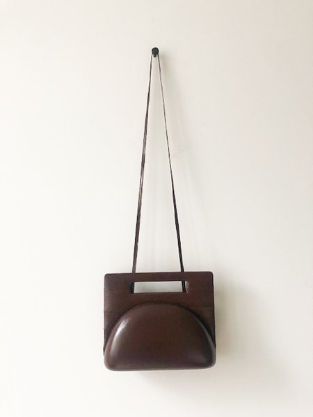 Pre-loved BJ Imports Square Handle Bag - Brown