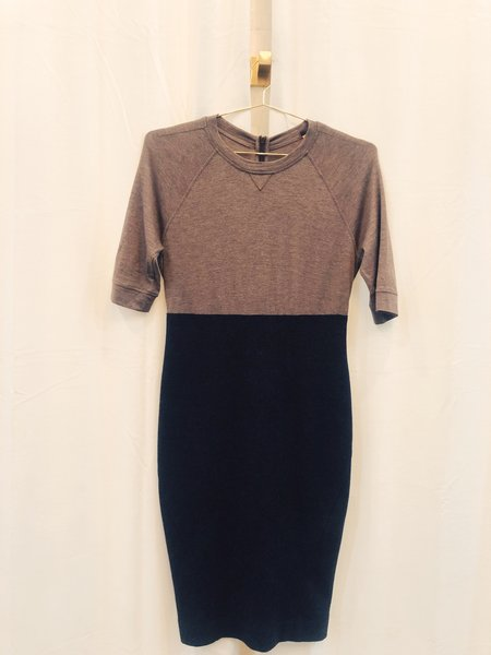 Pre-loved Brunello Cucinelli Colorblock Midi Dress - Black/Beige