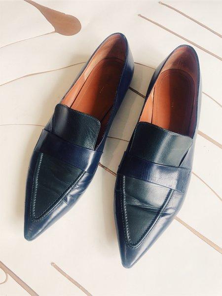 Pre-loved Celine Leather Loafers - Black/Green