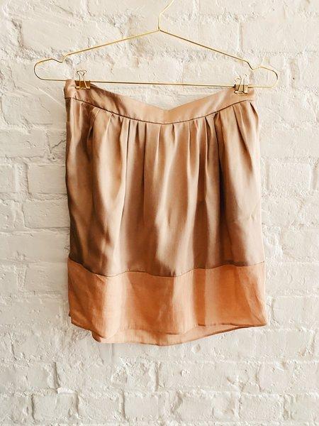 Pre-loved Chloé Silk Mini Skirt - Beige/Pink
