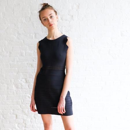 Pre-loved Chloé Scalloped Trim S Mini Dress - Navy
