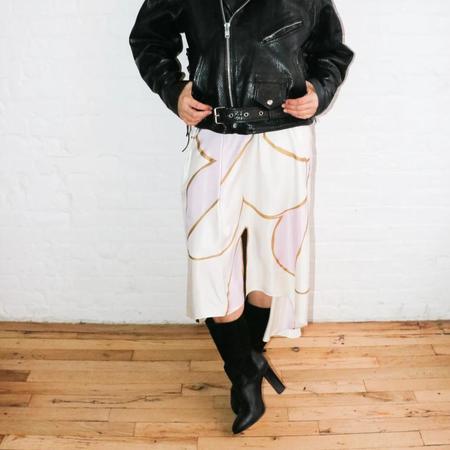 [pre-loved] Cynthia Rowley Printed Midi Skirt - ivory