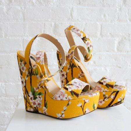 [Pre-Loved]  Dolce & Gabbana Floral Wedges