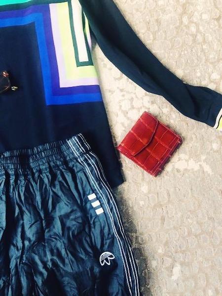 [Pre-loved] DVF Black Geometic Shirt