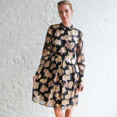[Pre-loved] Erdem Metallic Mock Neck Dress