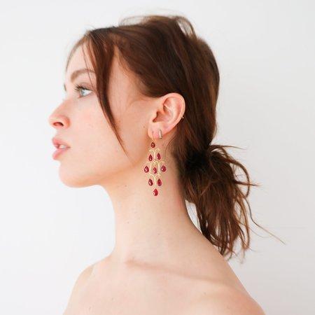 [Pre-loved] Gem Palace 18K Gold + Ruby Chandelier Earrings