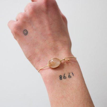 [Pre-loved] Gem Palace 18K Gold + Rutilated Quartz Bracelet