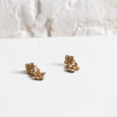 [Pre-loved] Gem Palace 22K Gold + Rose-Cut Diamond Earrings