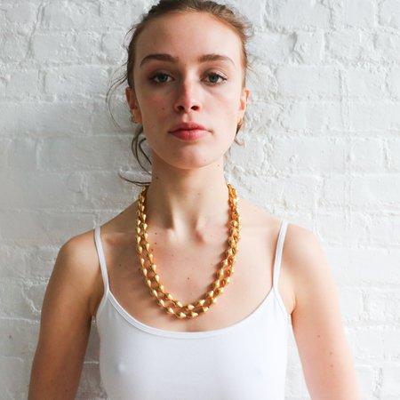 [Pre-loved] Gem Palace 22K Gold Dholki Bead Necklace
