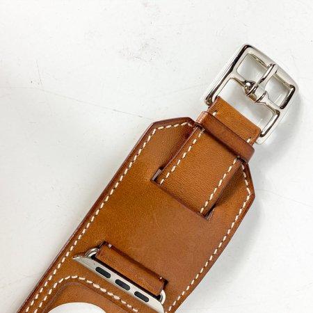 [Pre-loved] Hermès 42MM Apple Watch Cuff - Tan
