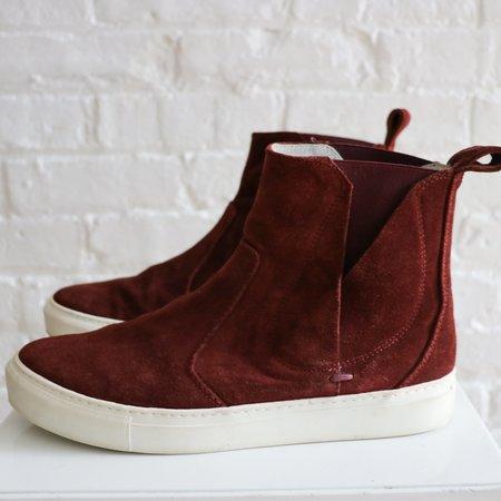 [Pre-loved] Lanvin Suede High Top Sneakers - Burgundy