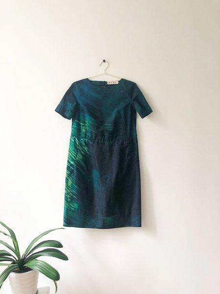 [Pre-loved] Marni Printed Midi Dress - Green