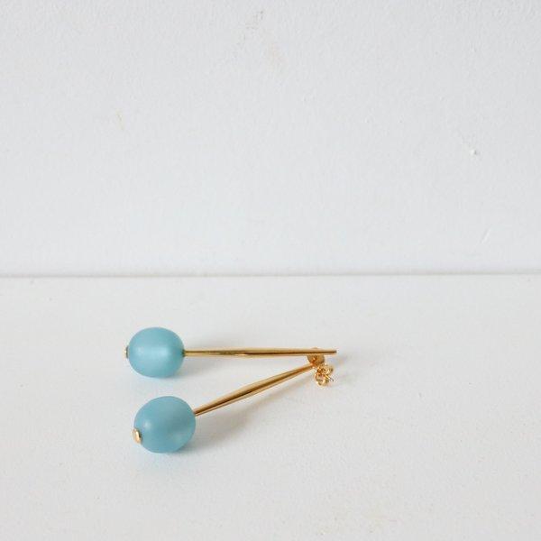 [pre-loved] Pono Bead Drop Pin Earring - blue