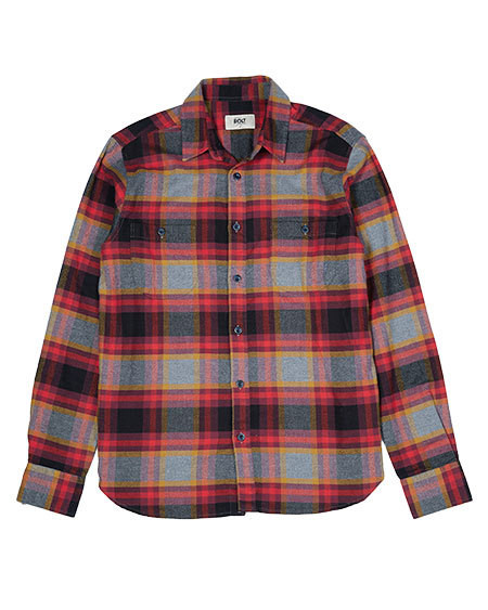 LIGHTNING BOLT - FLANNEL WORKSHIRT - RED PLAID