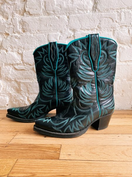 [pre-loved] Sendra Embroidered Cowboy Boots - black