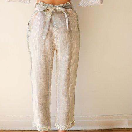 [pre-loved] Sita Murt Striped Pants - white/blue