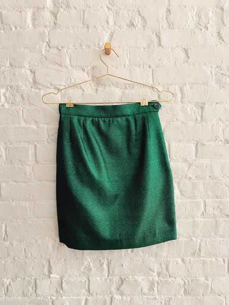 [pre-loved] Soeur Metallic Mini Skirt - green