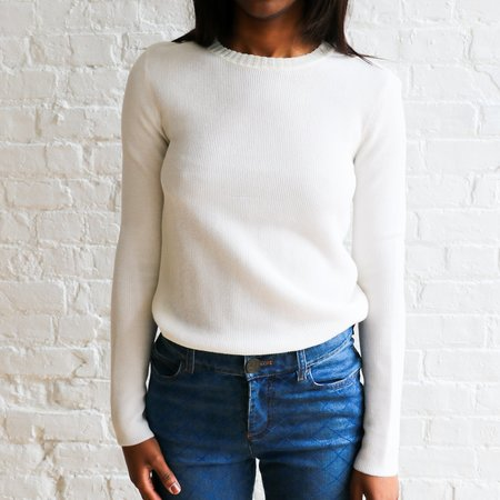 [pre-loved] Victoria Beckham Knit Pullover - white