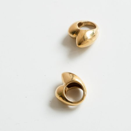Consignment Brooklyn Vieux Wave AM Ring - Brass