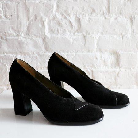 [pre-loved] Yves Saint Laurent Suede Pumps - black