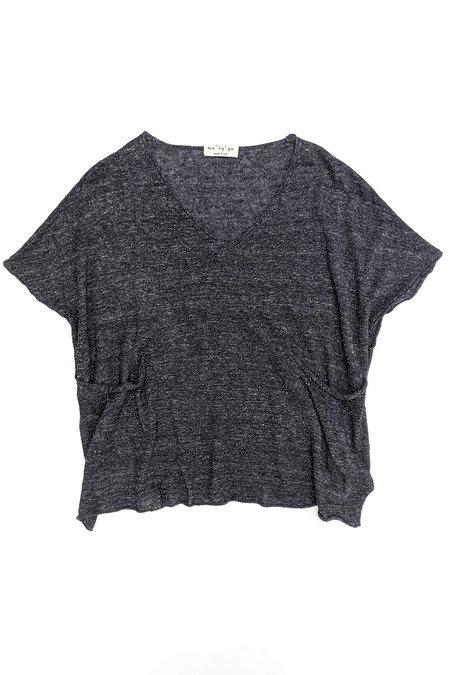 Ma'ry'ya Pocket Knit tee - Dark Grey