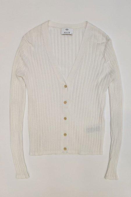 Allude V-Neck Knit Cardigan - Ivory