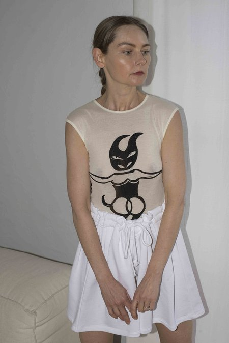 Baserange Devil Tank - Off-White